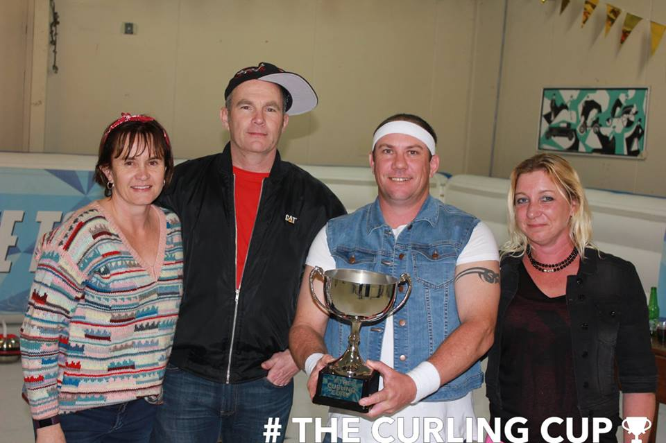The Whitianga Curling Cup 2018 cup presentation in NZ