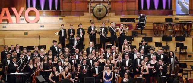 Auckland Youth Orchestra performing in Whitianga