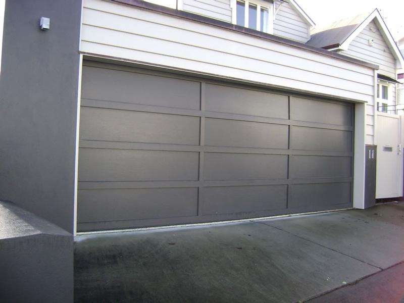Cedar battens - Meranti Ply garage door by Doors 2000 Coromandel