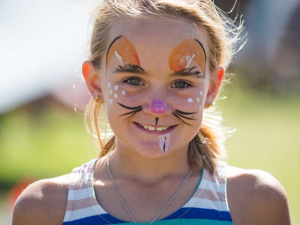 Girl with cat facepaint