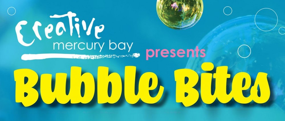 Creative Mercury Bay Bubble Bites banner
