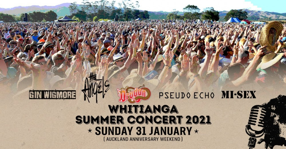 Whitianga Summer Concert 2021 Promotional Banner