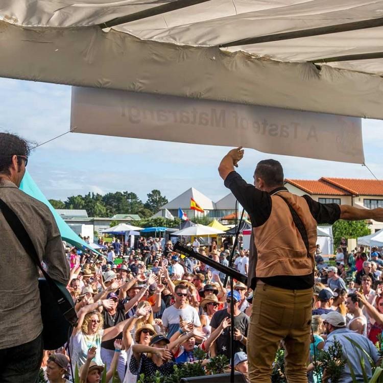 On stage at A Taste of Matarangi concert
