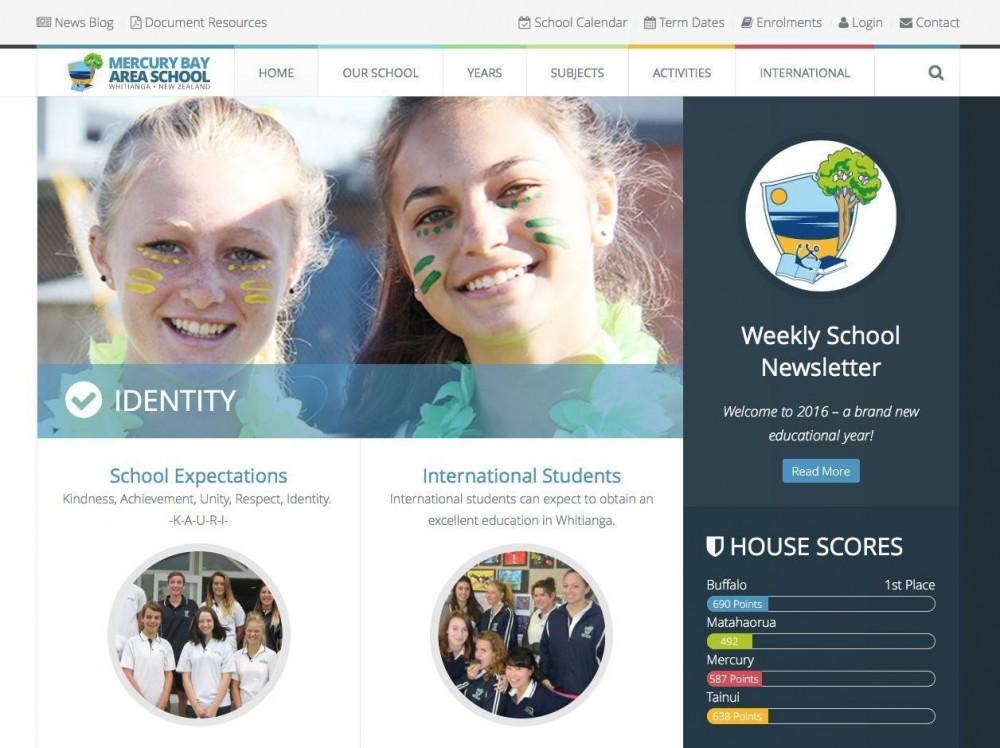 Mercury Bay Area School website