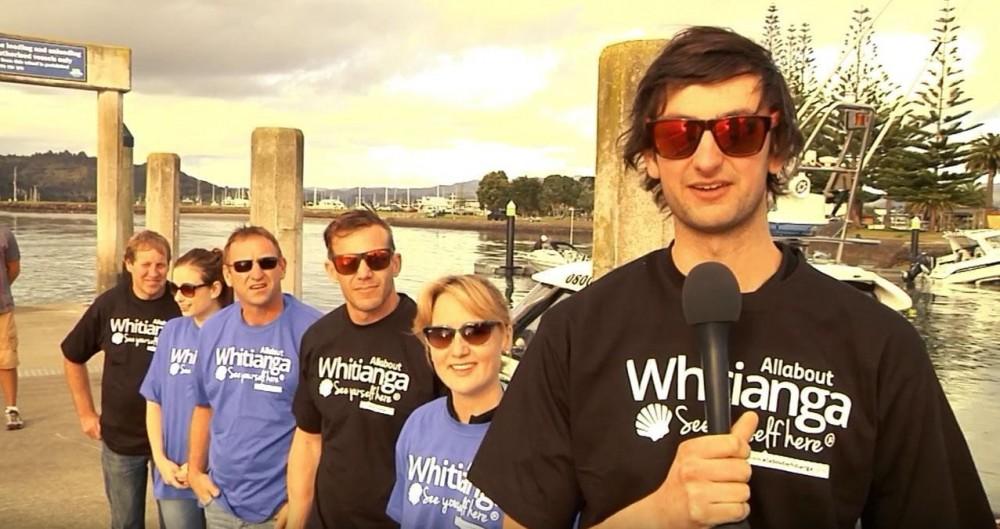 Rally NZ – Goldrush Rally competitors on Whitianga wharf
