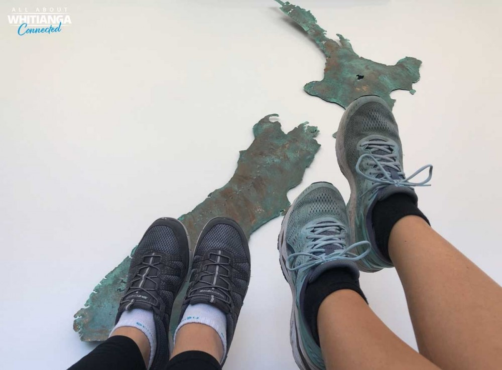 feet on map of New Zealand