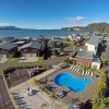 Beachside Resort Apartment complex Whitianga aerial shot