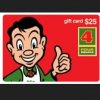Four Square gift card