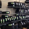 Tyres on shelves