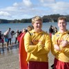 Surf Life guards on duty for the Polar swim challenge Whitianga
