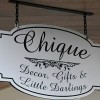 Chique Decor and Little Darlings sign