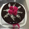 Chocolate cate with red roses