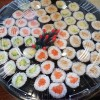 large tray of sushi
