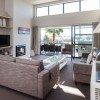 Sovereign Pier on the Whitianga Waterways apartment accommodation - spacious lounge and outdoor patio