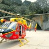 Westpac Rescue Helicopter on site of accident at the beach  in the Coromandel