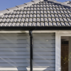 Marley spouting on weatherboard home with tile roof
