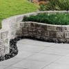 Paving and blocks in garden