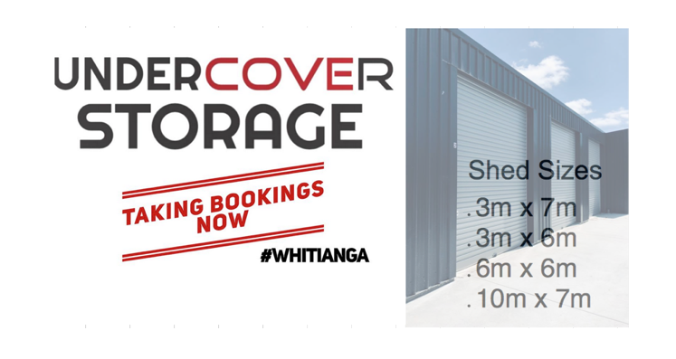 UnderCover Storage shed sizes for rent Whitianga