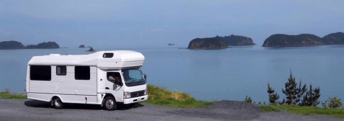 Campervan by sea