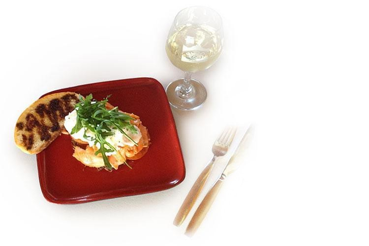Potato Rosti and Smoked Salmon Stack