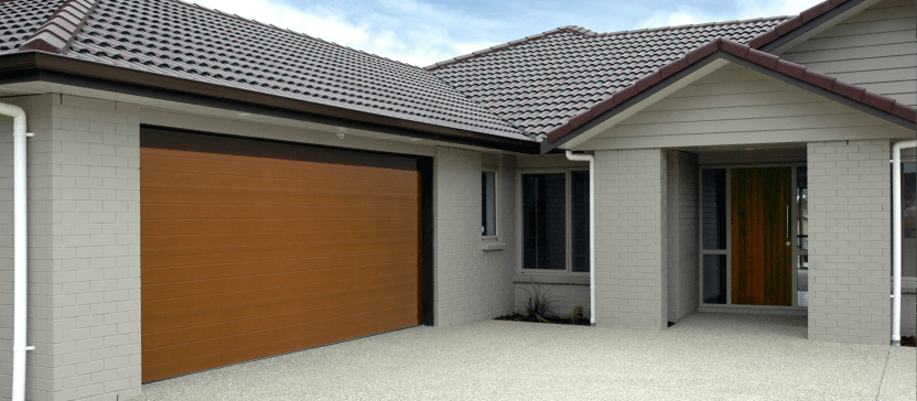 Garador Residential Naturesteel door Carswell Construction Builders Whitianga Garage doors
