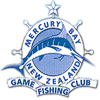 Mercury bay game fishing club logo in Whitianga