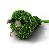 Good Energy grass green power plug