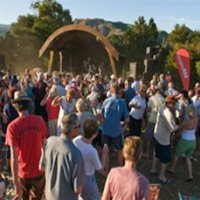 Crowd shot Concert in the Vines Cooks Beach by Whitianga