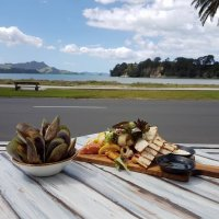 Waterfront dining at Stoked Restaurant Whitianga