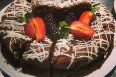 Fruit Decorated Cake at Jandals Cafe, Whitianga