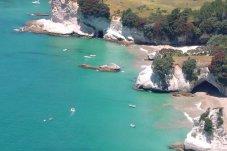 FlyStark scenic flights over Cathedral Cove Coromandel Peninsula