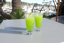 Drinks on the deck at Salt Bar and Restaurant Whitianga.jpeg
