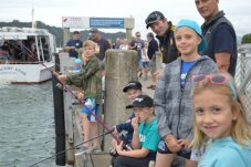 Kid fishing competition Mercury Bay Game fishing club whitianga