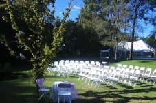 Garden seating & Marquee