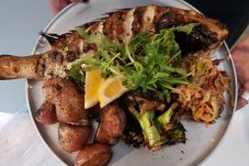 Delicious seafood dishes at Stoked Restaurant Whitianga
