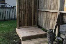 Outdoor shower area Bro-Projects Whitianga