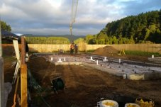 Laying foundation concrete floor Whitianga Concrete Ltd