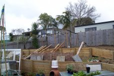 garden construction and excavation Helston Projects Whitianga Builder