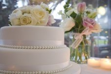 Wedding cake from Salt Restaurant and Bar Whitianga Wedding Venue
