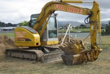 Eight tonne digger Peninsula Hire Whitianga