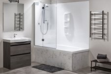 Clearlite Roomset-Kahlo-Shower-over-bath-Platinum-Swing-Grafton