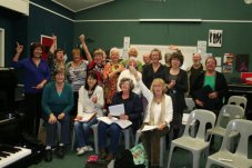 Mercury Bay Community Choir in the music room practising