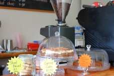 Enjoy coffee and cake at the Castle Rock Cafe in the Coromandel