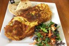 Fresh omelette Cafe Nina Whitianga