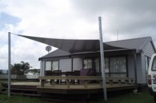 Residential Shade Sail by Peninsula Gates and fences