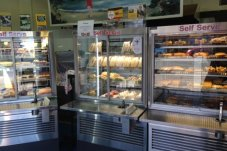 Freshly made food from our cabinets at Bay Bakery Whitianga