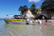 Getting to Cathedral Cove Beach with the Water Taxi service