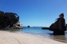 Get to beautiful Cathedral Cove on the water taxi