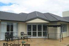 Coloured patio Coastal Concreting