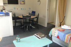 Dining and kitchen area Sea Gypsy Motel Whitianga